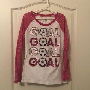 "Justice ""Goal"" top. Sz 8"